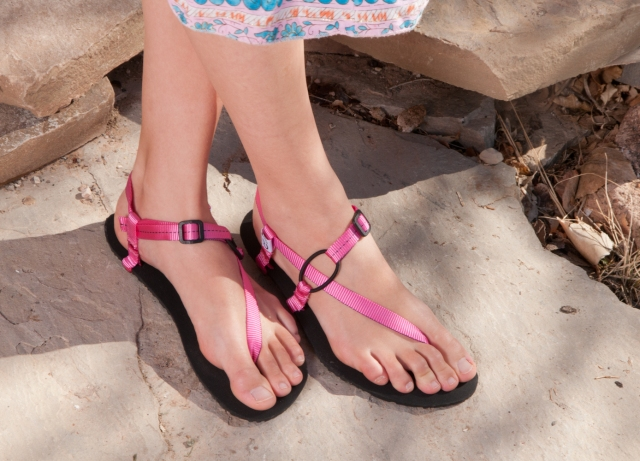 cute pink minimalist sandals for women